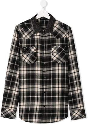 Diesel TEEN checked shirt