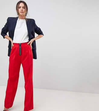 Asos Tall TALL Wide Leg Trouser With Zip Front
