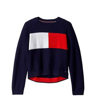 Tommy Hilfiger Adaptive Adaptive Girls' Sweater with Velcro(R) Brand Closure at Shoulders (Little Kids/Big Kids)