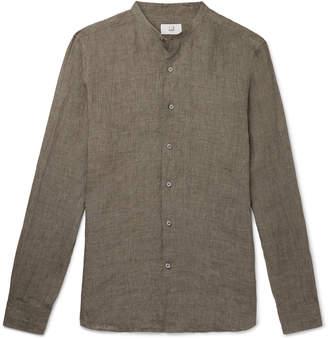 Dunhill Grandad-Collar Linen Shirt