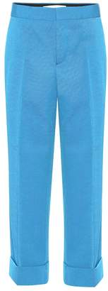 Marni Cropped wool-twill trousers