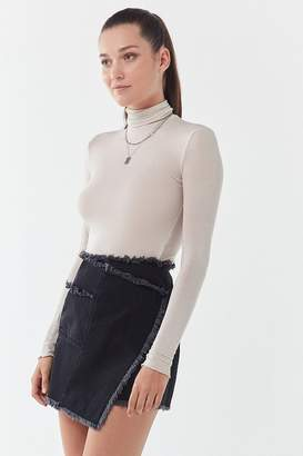 Urban Outfitters Frayed Wrap Mini Skirt