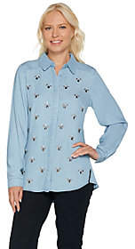 "C. Wonder Embellished Button Front""Carrie"" Blouse"