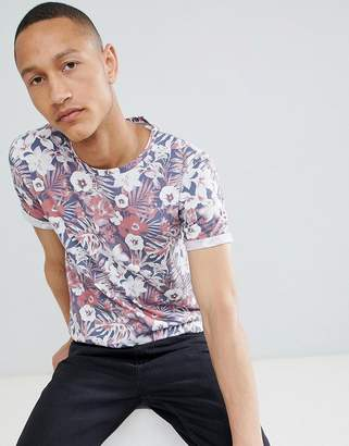 Clean Cut Copenhagen Clean Cut Denim Floral Print T-Shirt