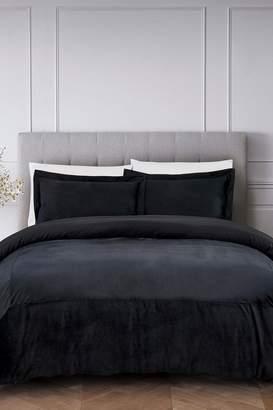 California Design Den by NMK Luxury French Velvet Comforter Set - Black