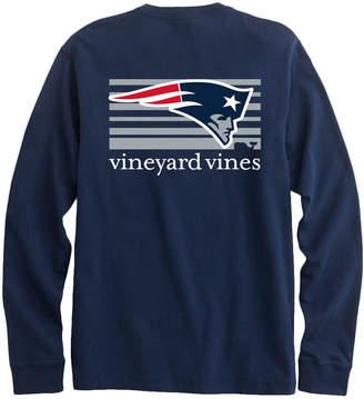 Vineyard Vines Adult Long-Sleeve New England Patriots Long-Sleeve Block Stripe T-Shirt