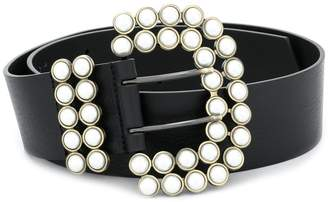 Philosophy di Lorenzo Serafini pearl embellished buckle belt