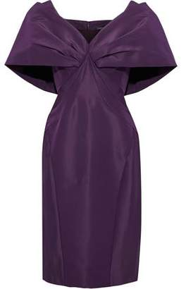 Zac Posen Draped Silk-Taffeta Dress
