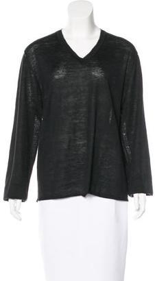 John Varvatos Silk Blend V-Neck Sweater $65 thestylecure.com