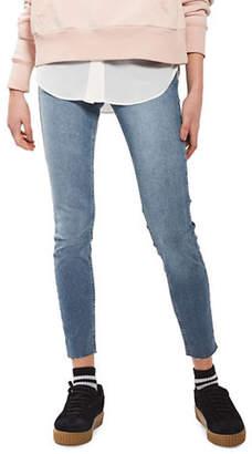 Topshop MOTO Raw Hem Jamie Jeans 32-Inch Leg