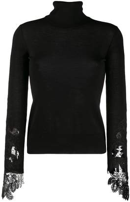 Ermanno Scervino lace detail jumper