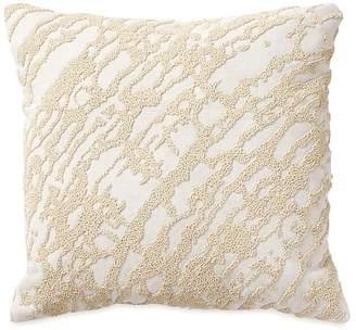 """Donna Karan Abstract Beaded Decorative Pillow, 14"""" x 14"""""""