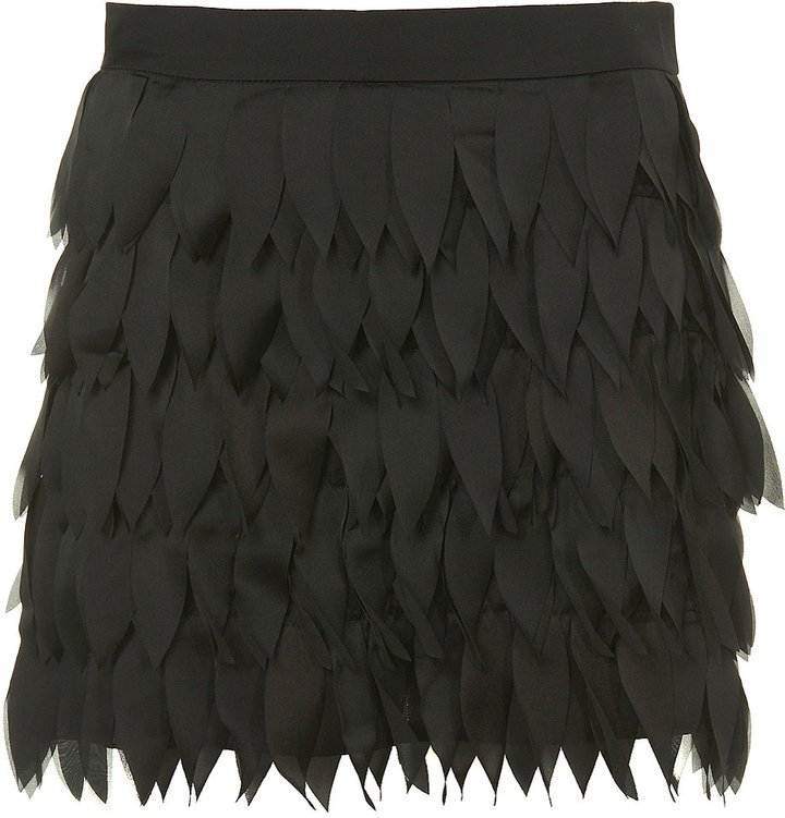 Laser Cut Feather Skirt by Rare**