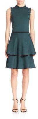 Parker Ryker Knit Fit & Flare Dress $398 thestylecure.com
