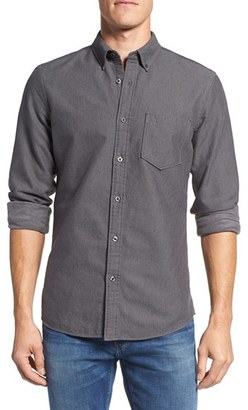 Men's Nordstrom Men's Shop Trim Fit Brushed Twill Sport Shirt $69.50 thestylecure.com