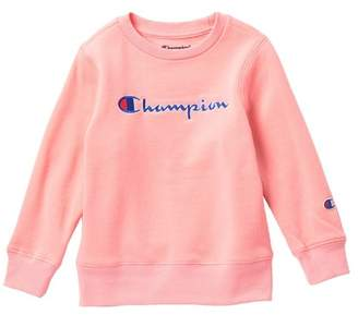 Champion Heritage Pullover Crew Neck Sweater (Toddler & Little Girls)