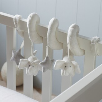 The White Company Spiral Indy Cot Toy, White Grey, One Size