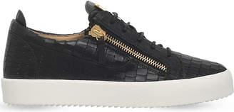 Giuseppe Zanotti Crocodile low-top leather trainers