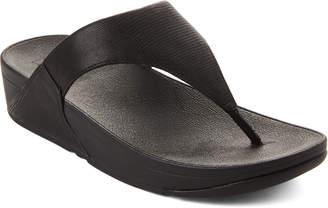 FitFlop Black Lulu Shimmerlizard Thong Sandals