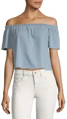 Mother Women's Off-The-Shoulder Cotton Top