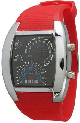 OLIVIA PRATT Olivia Pratt Mens Red Silicone Digital Watch 8144Red