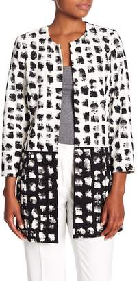 Kasper 3/4 Sleeve Patterned Jacket