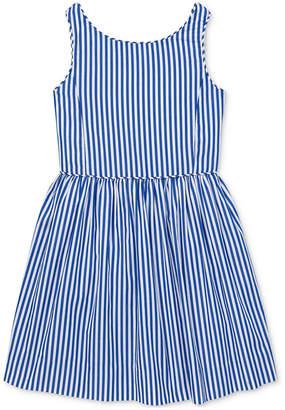 Polo Ralph Lauren Toddler Girls Bengal-Stripe Cotton Dress