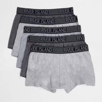 River Island Mens Grey metallic hipster multipack