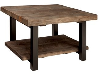 Alaterre Pomona Cube Coffee Table, Rustic Natural