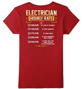 Electrician Hourly Rate Shirt New Version