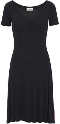 L'Agence Ribbed-Knit Dress