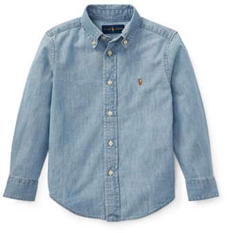Ralph Lauren Childrenswear Woven Chambray Shirt, Size 4-7