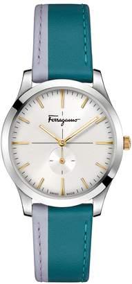Salvatore Ferragamo Slim Formal Leather Strap Watch, 40mm