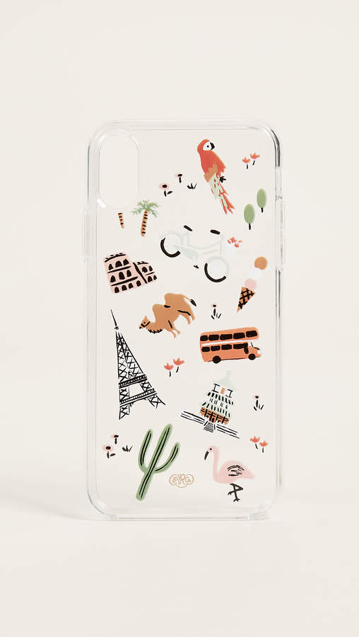 Rifle Paper Co Clear Wanderlust iPhone X Case