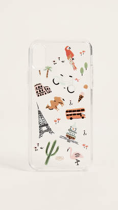 Rifle Paper Co. Clear Wanderlust iPhone X Case