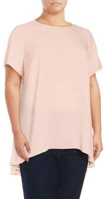 Vince Camuto Solid Flared Hi-Lo Top