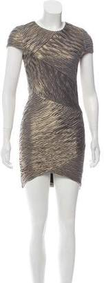 Torn By Ronny Kobo Textured Metallic Dress