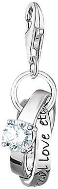 Thomas Sabo Charm Club Wedding Rings Charm, Silver