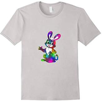 Cute Bunny Bright Rainbow Color Girl Shirt Easter Shirt