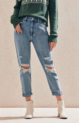 PacSun Torn Blue Mom Jeans