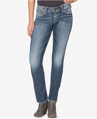 Silver Jeans Co. Suki Mid Rise Curvy Straight Jeans