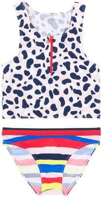 Stella McCartney TEEN leopard striped print tankini