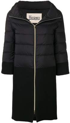 Herno contrast panel down jacket