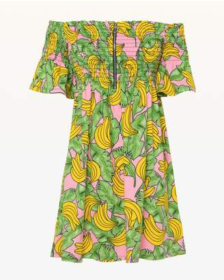 Juicy Couture JXJC Banana Print Smocked A-Line Dress