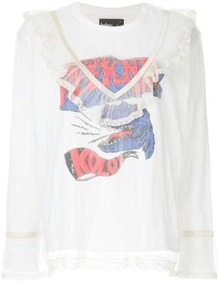 Kolor lace layered printed top