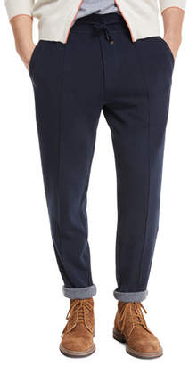 Brunello Cucinelli Solid Cotton Jersey Sweatpants