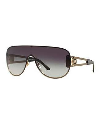 Versace Gradient Greek Key Shield Sunglasses