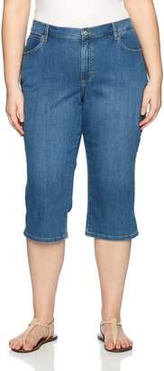 af47a80e6fb23 Lee Women s Plus-Size Relaxed Fit Capri Jean