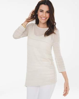 Travelers Collection Gold Shimmer Sweater