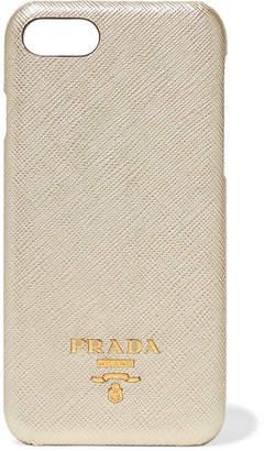 Prada Metallic Textured-leather Iphone 7 And 8 Case